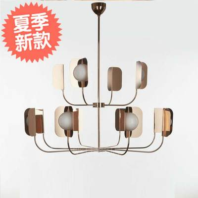 Creative Simple Chandelier Postmodern American Fashion Model Room Bedroom Guest Z Hall Villa Branch Style Fashion