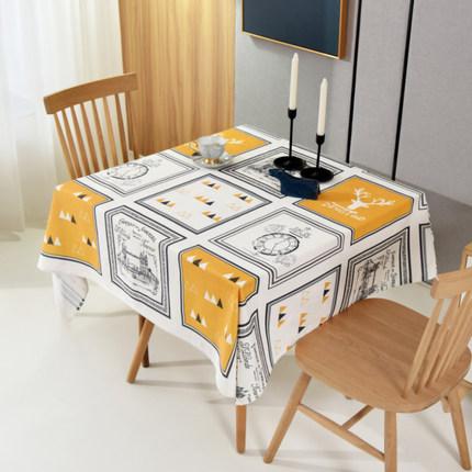 布艺桌布防水防油免洗防烫 北欧TPU正方形餐桌布桌垫家用台布