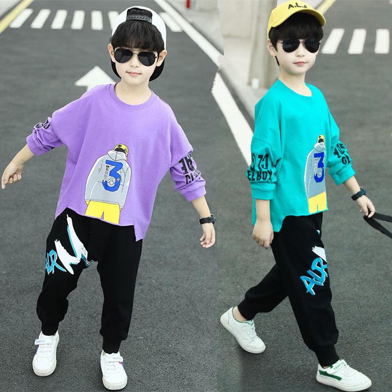 男童春秋长袖卫衣两件套110-160cm