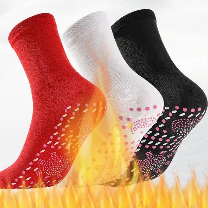 自发热袜子暖脚热灸保健袜托玛琳中筒加厚袜冬季防寒暖脚宝男女用