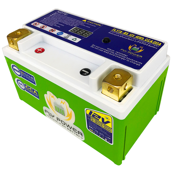 Motorcycle-Battery FLY7A-BS Lifepo4 12v CCA with BMS Replace