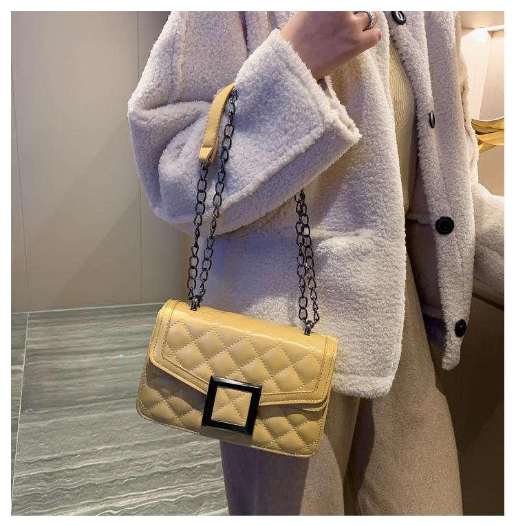 中國代購|中國批發-ibuy99|2020春季新款女士包袋PU革单肩包单肩斜挎磁扣时尚潮流女包