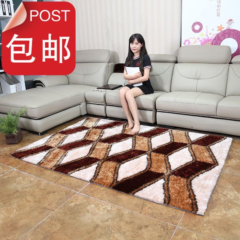 茶几v茶几客厅韩国丝长方形图案现c代简约地毯卧室特价时尚地毯。