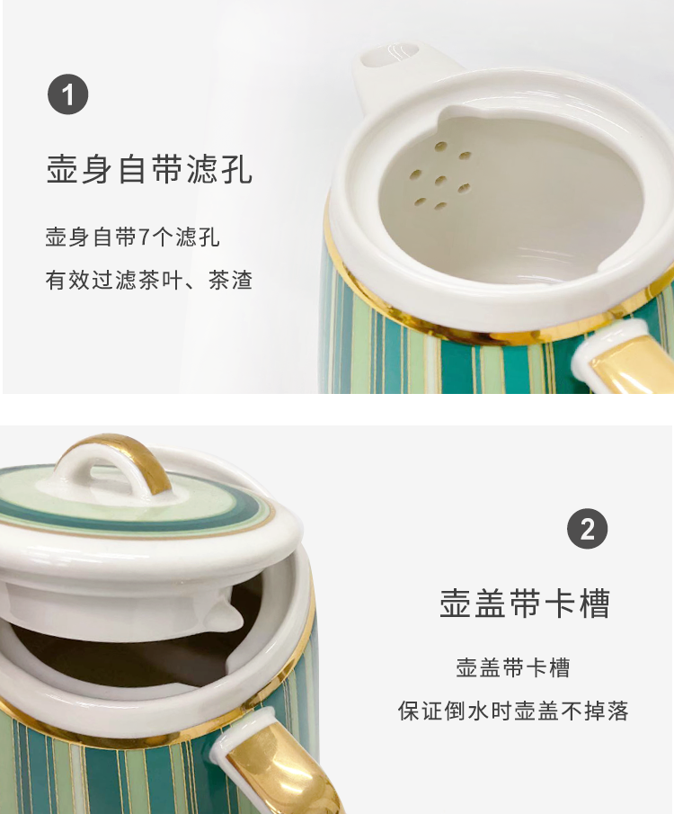 Good nest ceramic gift tea coffee tea set a teapot two northern wind office household glass cup
