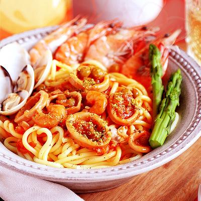 速味享意大利面厚切黑椒牛柳番茄海鲜3分钟OK面低脂低卡速食意面