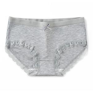 【2条装】性感蕾丝纯棉裆内裤