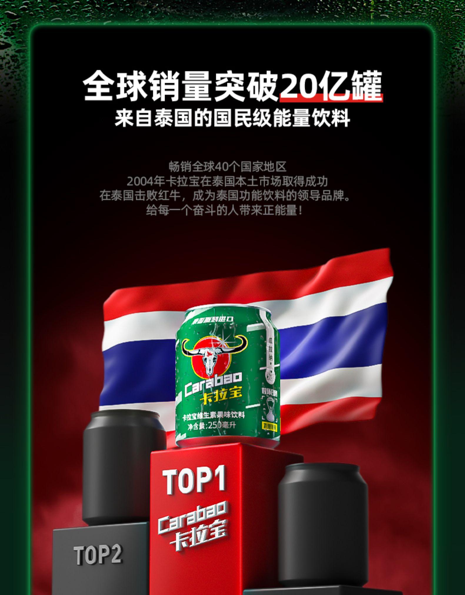 泰国 Carabao卡拉宝 维生素运动功能饮料 250ml*12罐 图1