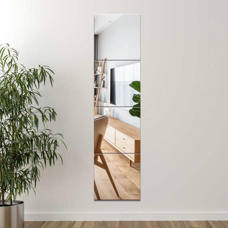 穿衣镜试衣镜子全身镜学生壁挂家用贴墙自粘贴宿舍女浴室拼接镜子