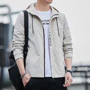 男士外套新款春秋季青年休闲夹克外套
