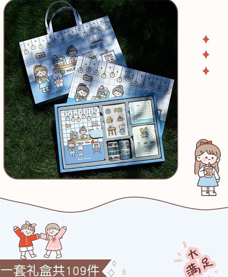 中國代購 中國批發-ibuy99 手账本豪华版笔记本子女生款日记本秘密好看的手绘风可爱的小巧