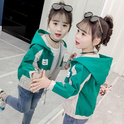 女童外套春秋款2021新款秋装时尚女韩版洋气中大童夹克上衣潮童装