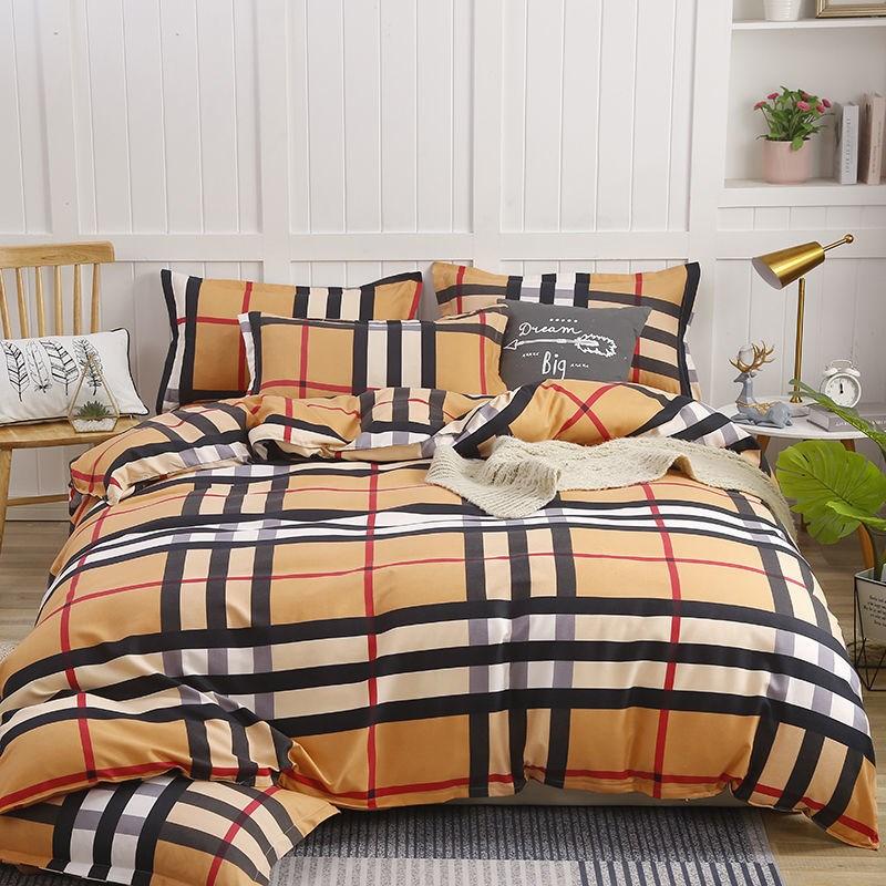 秋冬加厚纯棉全棉磨毛四件套床上用品床单被套双人学生宿舍三件套