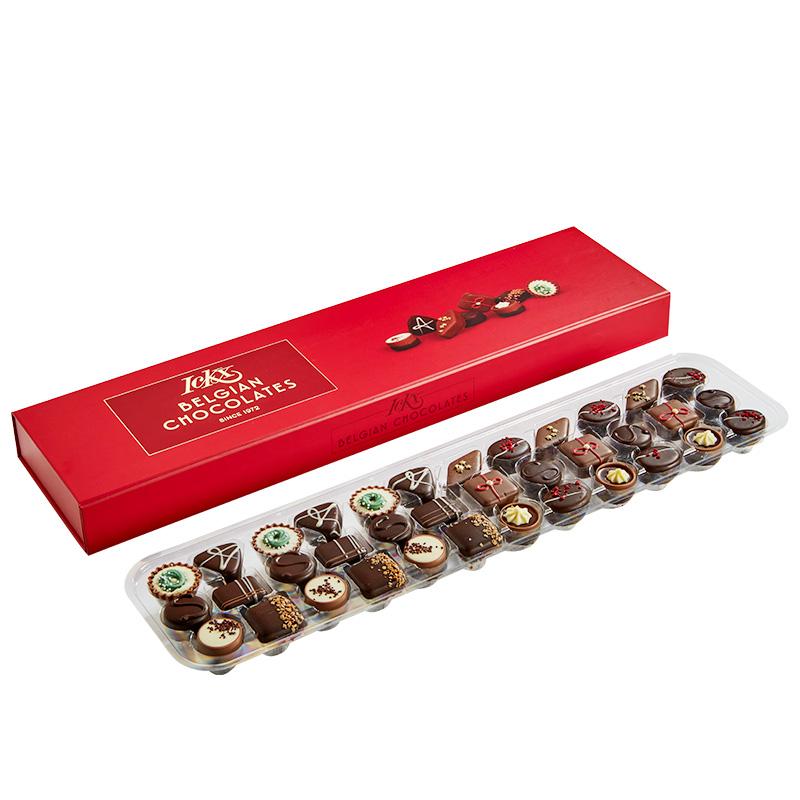 ICKX比利时夹心巧克力36粒礼盒装情人节送女友生日礼物560g零食