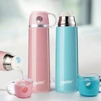 304大容量不锈钢保温杯男女学生杯子韩版便携户外卡通带盖水杯壶