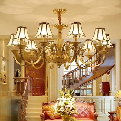 Living room chandelier atmosphere retro simple fashion chandelier 10 European style dining room lamp personality bedroom lamp