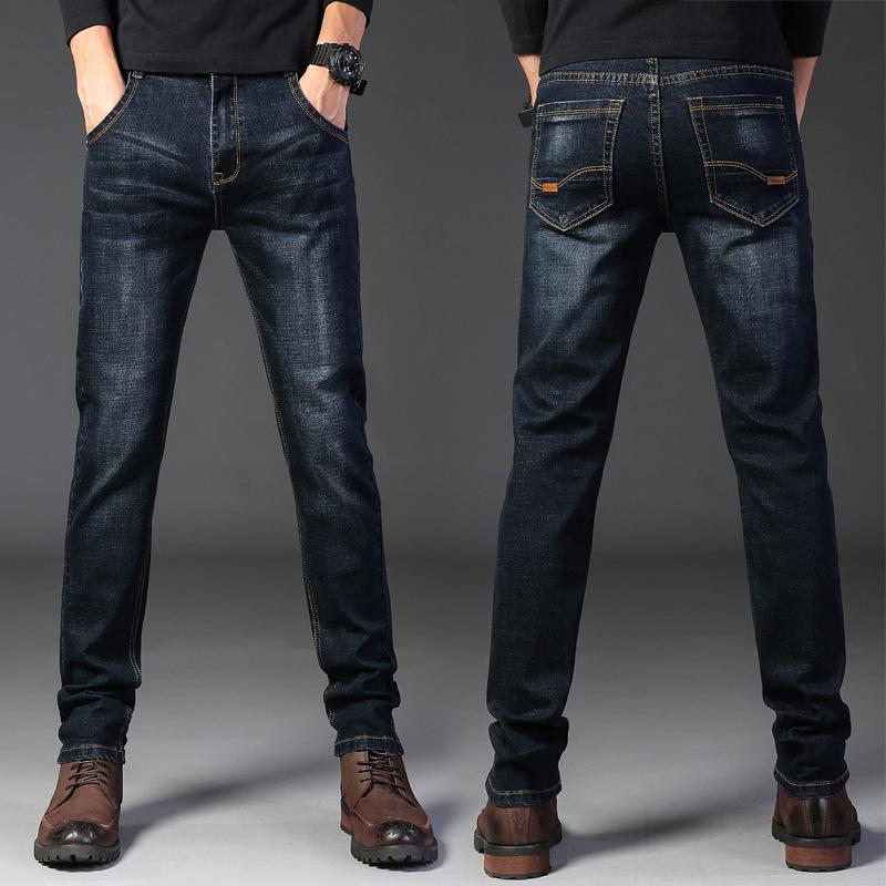 男士长裤子修身牛仔裤男2021新款春夏季黑色宽松直筒薄款韩版潮鞋