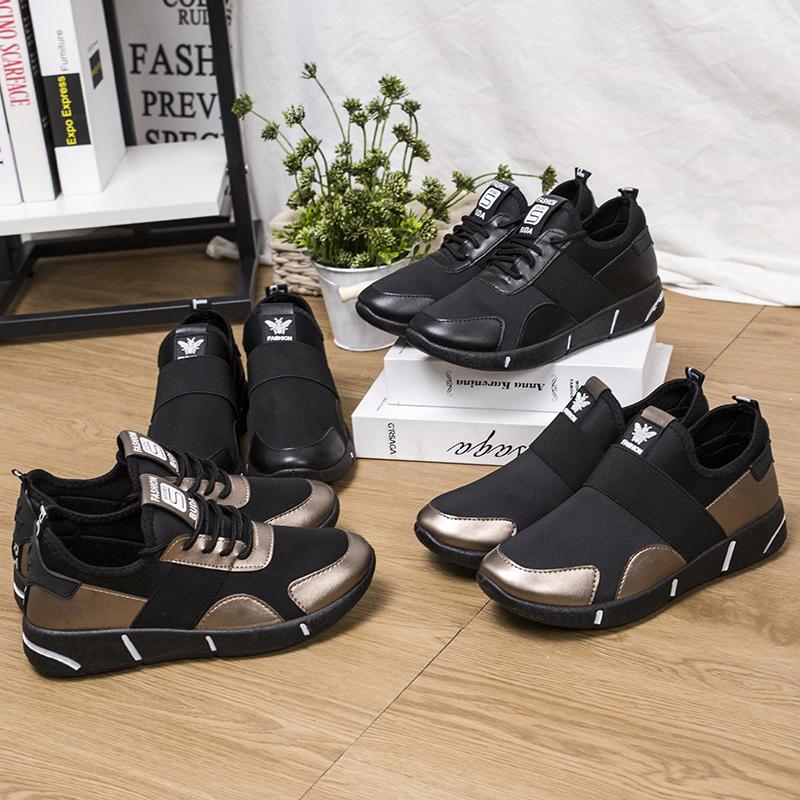 春夏季韩版一脚蹬懒人鞋子女深口圆头运动鞋