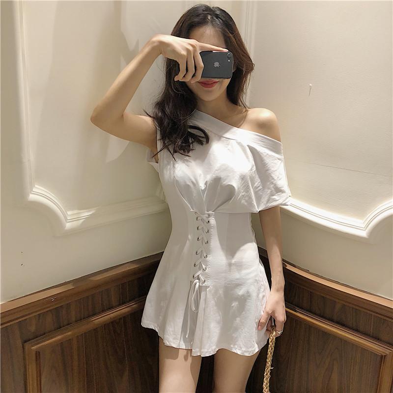 小白裙连衣裙夏2018新款女仙气显瘦欧美胯大的女生裙子御姐范女装