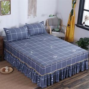 纯色席梦思床罩床套磨毛床裙单件床盖
