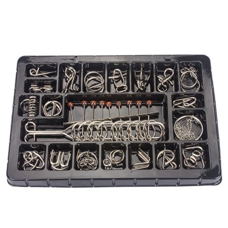 九连环益智玩具成人孔明锁鲁班锁智力玩具高智商机关盒儿童智力扣