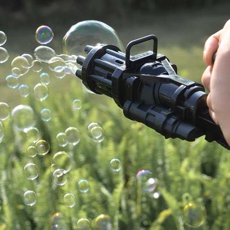 抖音网红同款加特林泡泡枪自动充电泡泡机浓