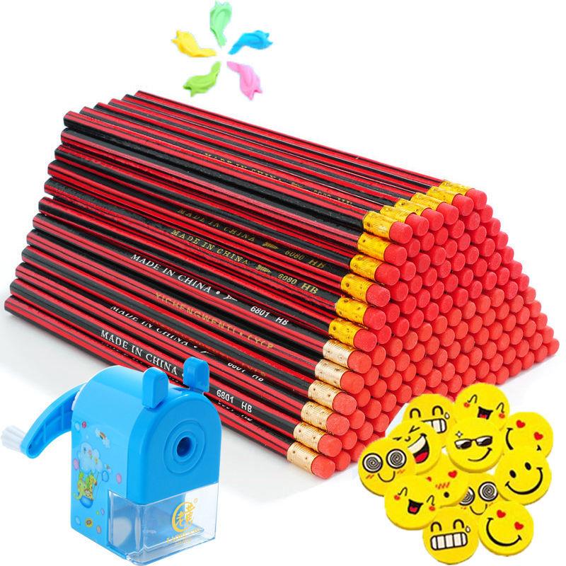 50支铅笔套装 HB铅笔学生写作六角30支铅笔儿童幼儿文具学习用89