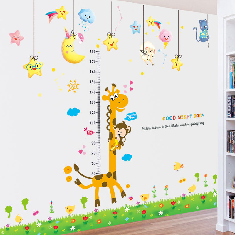 信息化/儿童房宝宝量身高贴纸卧室装饰品客