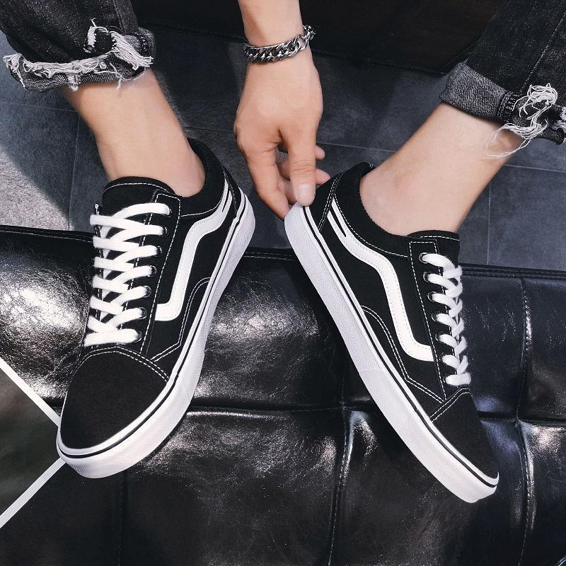 男鞋子男潮鞋韩版潮流百搭休闲小白鞋低帮透