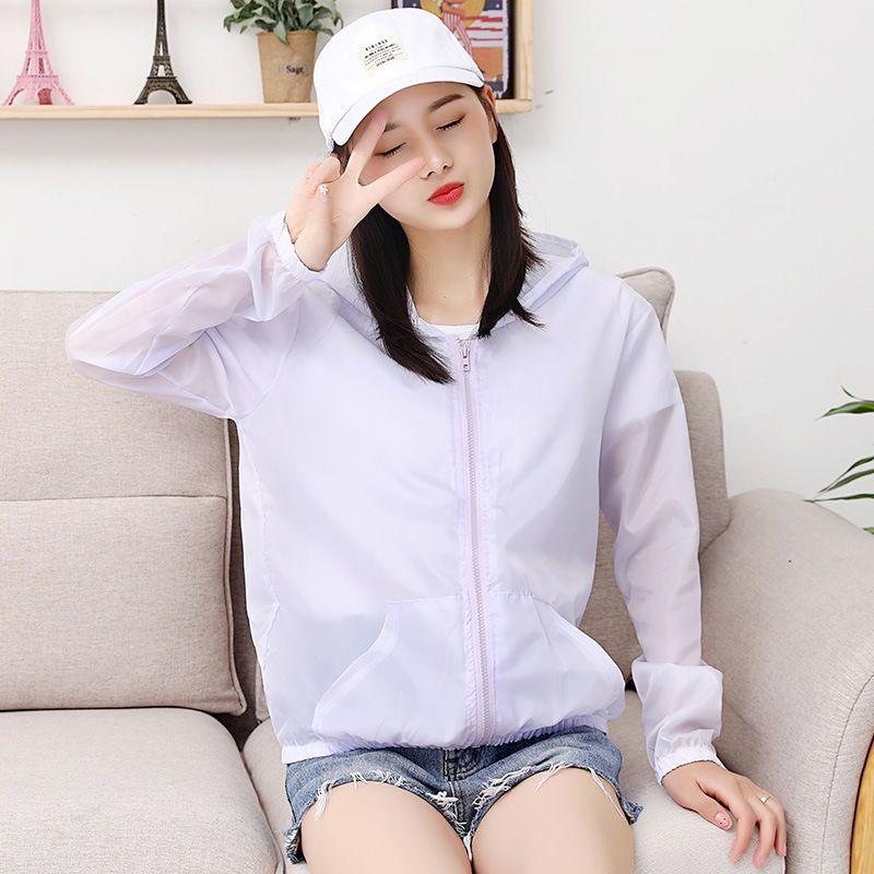 防晒衣女2021新款户外长袖运动防紫外线外套薄款夏季防晒服防晒衫