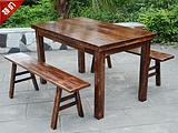 Ресторан из массива дерева ресторан обеденный стол и стул сочетание деревенский дом стол и стул массивный дерево восемь сказочный стол копия Древний стол