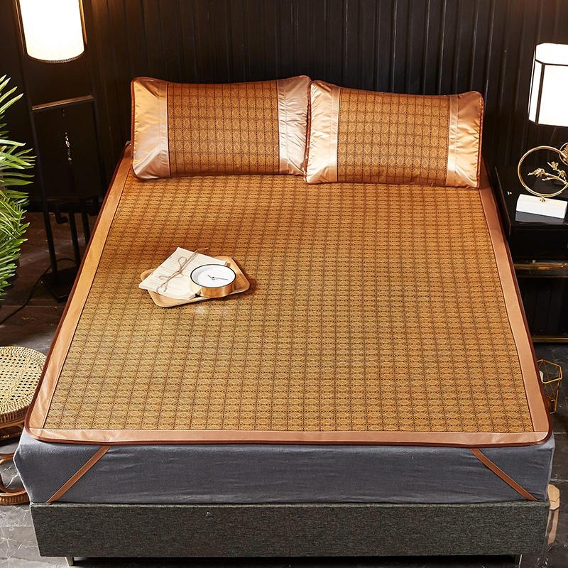 竹席凉席家用1.8m床1.5米夏季冰丝席子双面藤席学生单人人竹凉席