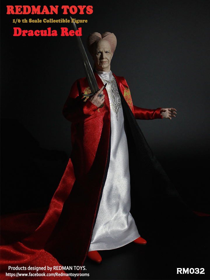 "1//6 scale 12/"" Dracula le Rouge Vampire Action Figure RM032 Comme neuf IN BOX en main"