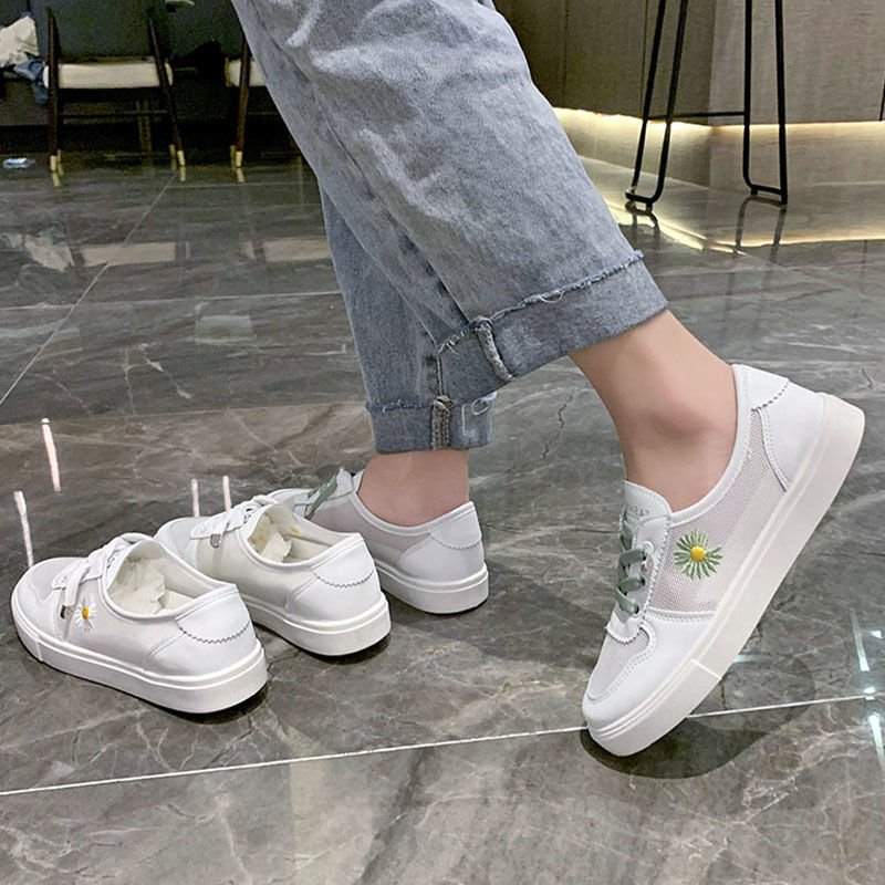 小白鞋女鞋子2021新款春夏季百搭运动网面透气运动板鞋潮鞋懒人鞋(小白鞋女鞋百搭运动网面透气运动板鞋懒人鞋)