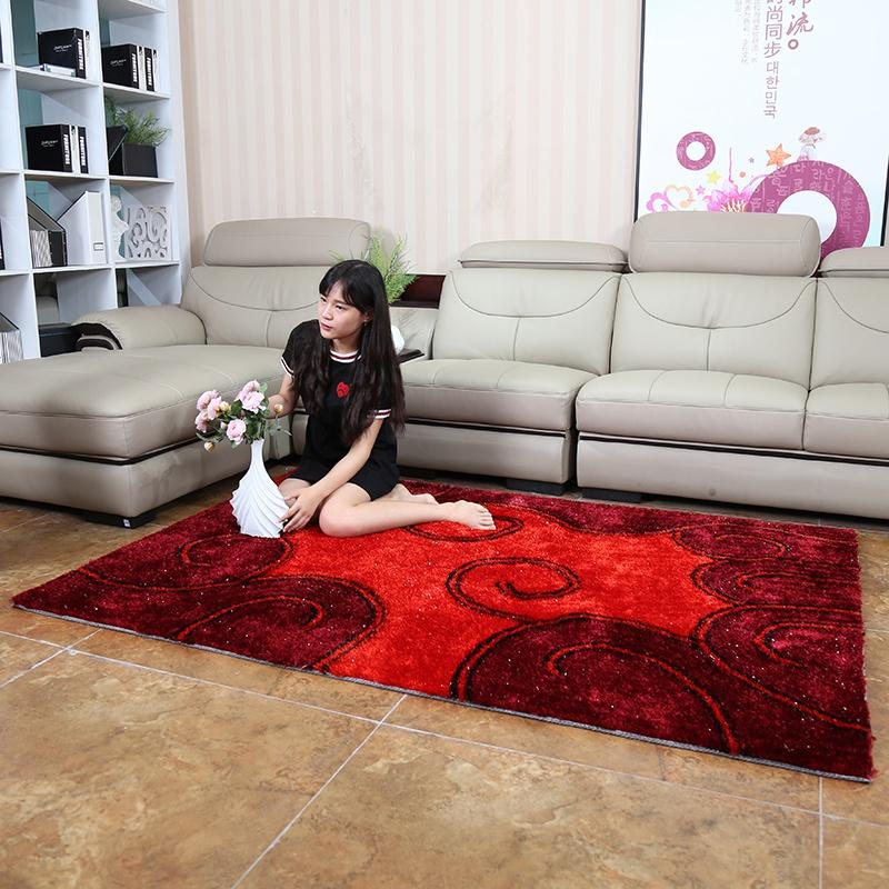 地毯客厅丝茶几地毯特价现代简约地毯时尚v地毯长方形韩国卧室图案