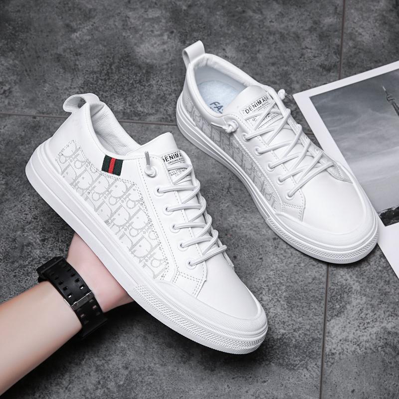 潮牌男鞋2021年新款休闲百搭小白鞋男士秋季帆布板鞋网红爆款潮鞋