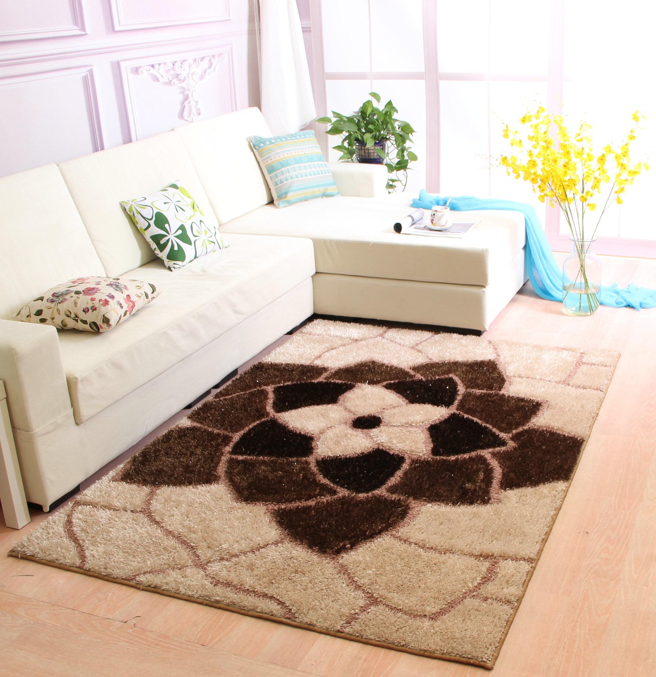 惠尔佳客厅特价沙发卧室现代欧式简约韩国丝地毯茶几床边满铺图案