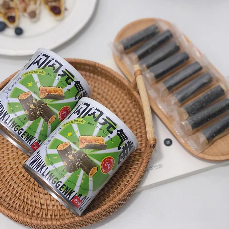 闪闪力量海苔植物蛋白肉松夹心卷4罐装