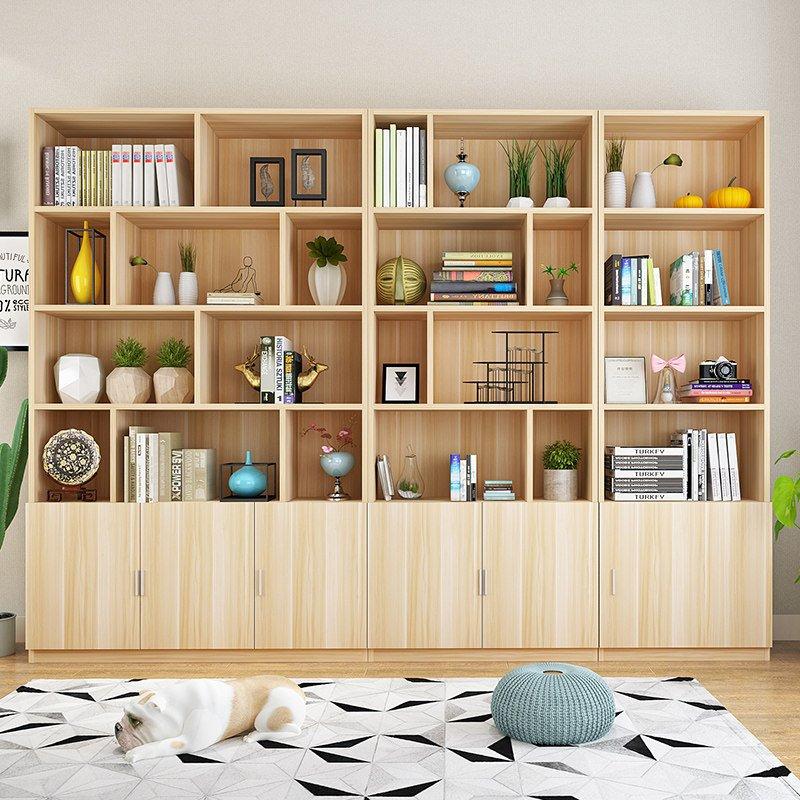 简约现代书架书橱30深2米高五层加大家用书柜商用储物展示柜v书架