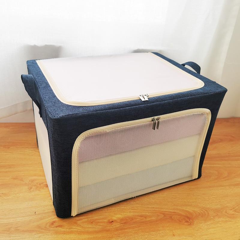 棉麻衣服收纳箱布艺衣物搬家整理盒箱子折叠衣柜家用储物筐袋神器