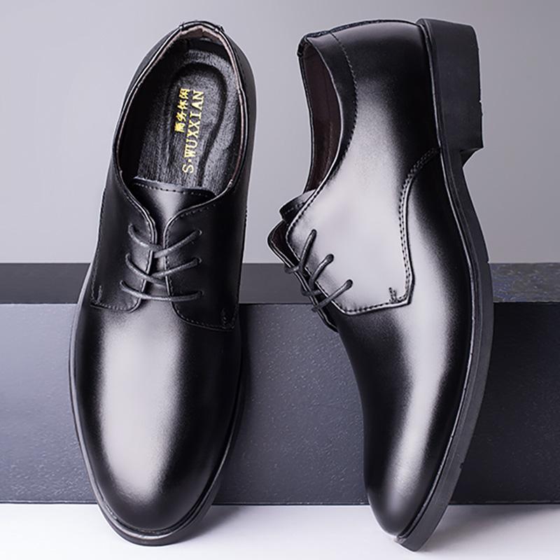 夏男士皮鞋商务休闲英伦内增高正装结婚鞋