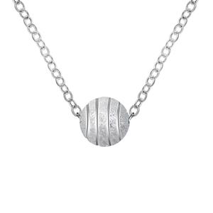 可签到【蔻即美】竖纹银色珠项链搭配饰品