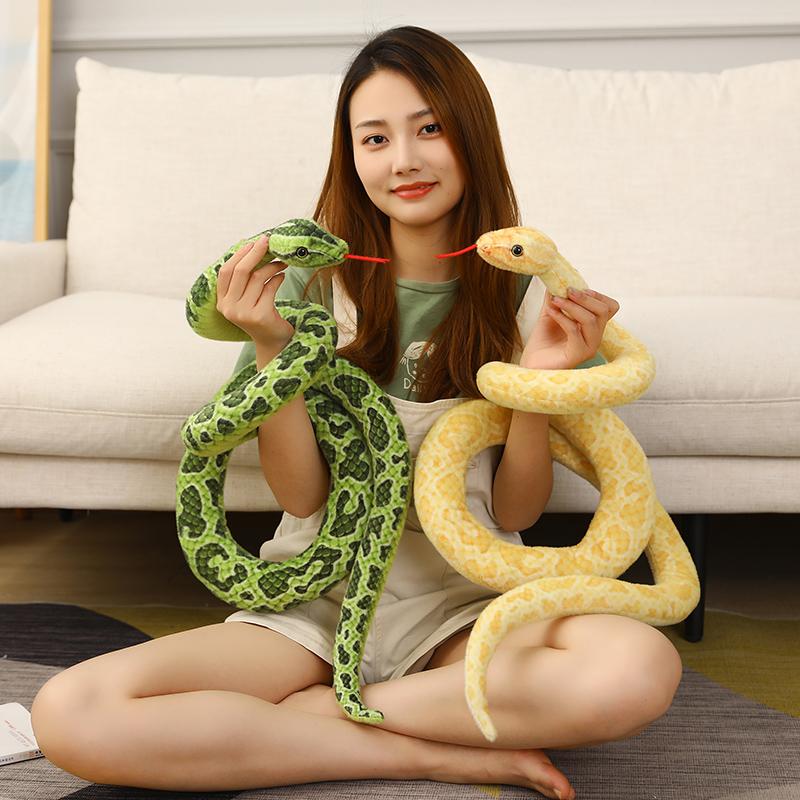仿真蛇眼镜蛇王假蛇毛绒玩具蛇整蛊恶搞道具风水公仔儿童认知创意