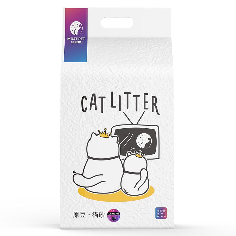【新店开业】富豪猫活性炭豆腐砂原豆猫砂除臭无粉尘碎屑2.5kg/包