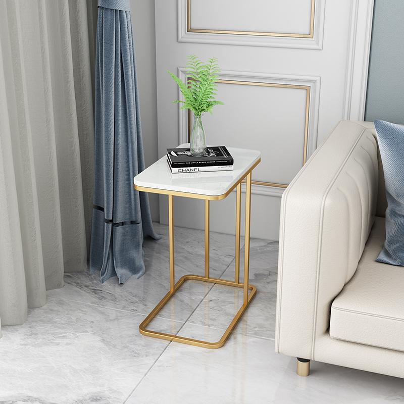 北欧茶几铁艺小角几小户型客厅圆方形沙发边几大理石边几简约现代