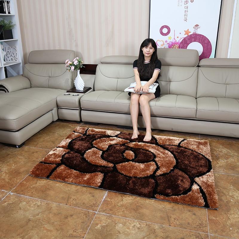 地毯v地毯特价韩国丝长方形客厅现代简约图案卧室茶几地毯时尚地毯