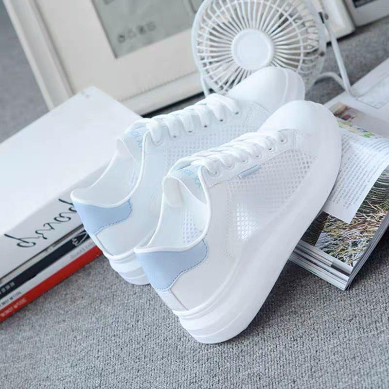 中國代購 中國批發-ibuy99 透气小白鞋女不臭脚2021夏季新款鞋子女学生韩版百搭薄网透气运动