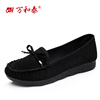 Spring old Beijing cloth shoes women's shoes flat with flat shoes casual work shoes pregnant women mother shoes peas shoes women