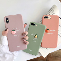 Ma Mini Fruit iPhone X / XS / XR / xsmax creative mobile phone case Apple 6 / 6S personality simple silicone soft shell Apple 7 / 8 / plus net red ins protective cover