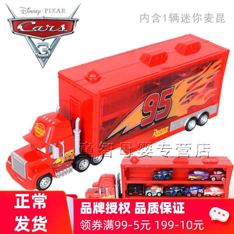 Mattel Racing Story Mini Car Transport Mike FLG70 Hộp lưu trữ xe Boy Boy - Chế độ tĩnh