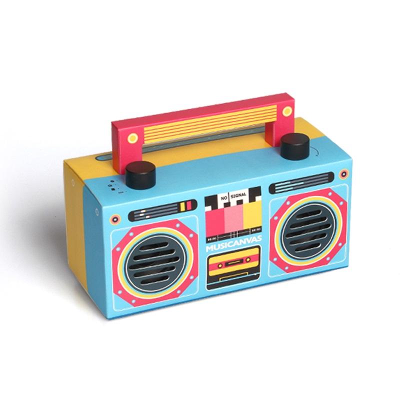 音樂畫布MINI 藍牙音箱低音炮 手提便攜經典復古老式紙盒音箱音響